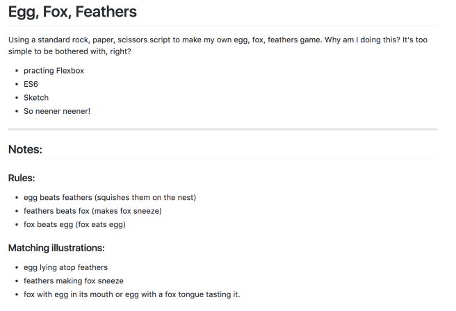 Screen Shot of readme file. mostly text